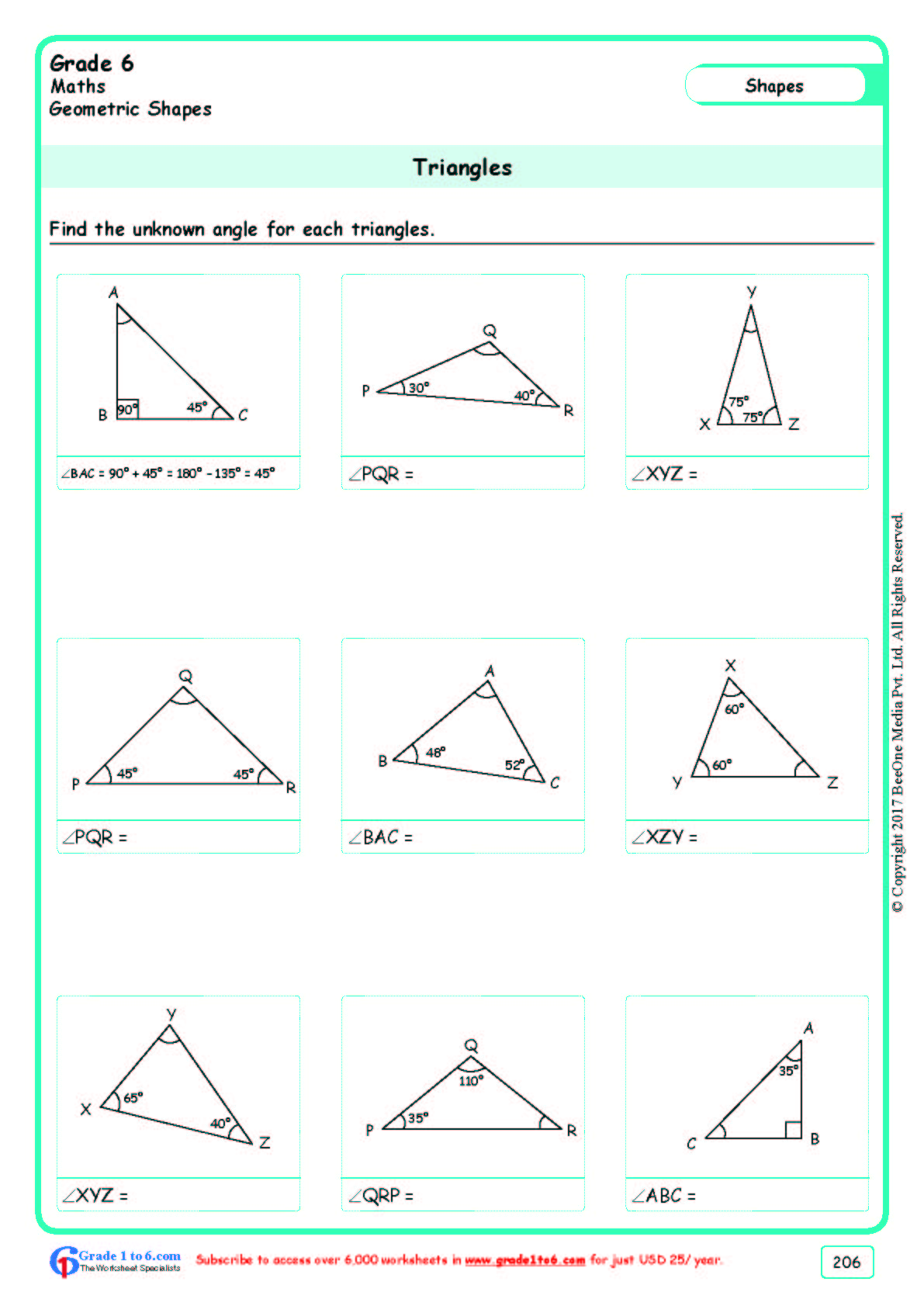 - Free Math Worksheets For Grade 6|class 6|IB |CBSE|ICSE|K12 And All