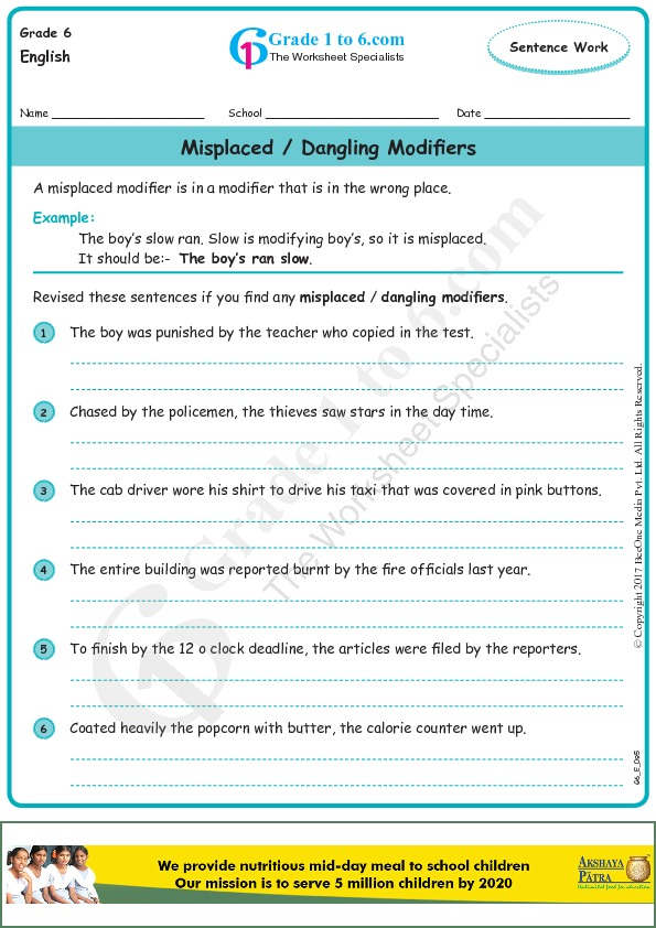 Modifiers Worksheet Checks. Misplaced And Dangling Modifiers Worksheet Checks. Worksheet. Dangling Modifier Worksheet At Clickcart.co